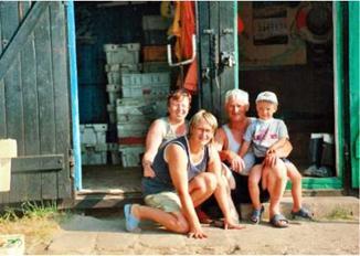 Na zdjęciu: Państwo Barbara i Ryszard  Szulc z córką Anią i wnuczkiem Jakubem